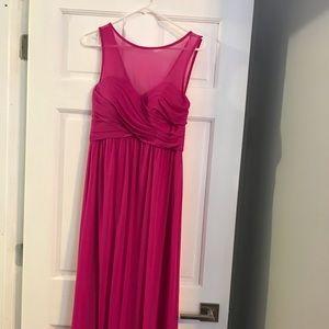 David's Bridal Bridesmaid Dress - Hot Pink